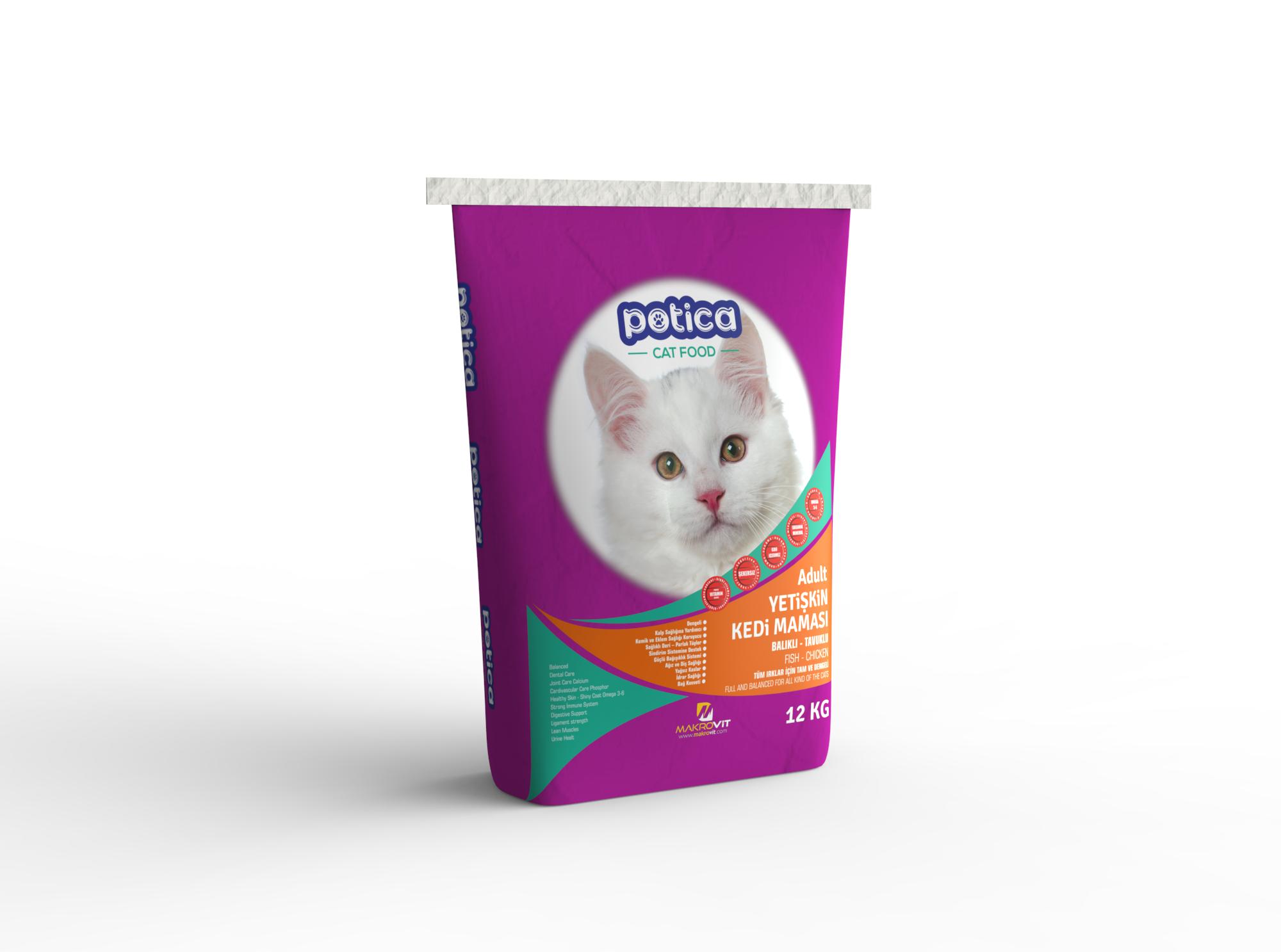 Potica Yetişkin Kedi Maması (Tavuklu - Balıklı)